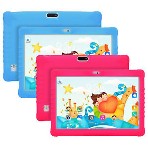 10 Inch Android 10 Quad Core Kids Tablet PC 4GB RAM 64GB ROM Free Case Dual SIMs