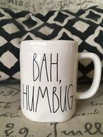 NEW RAE DUNN by Magenta BAH HUMBUG! Coffee Tea Mug Farmhouse Christmas Decor
