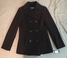 Kenneth Cole Reaction Women's Brown Double Breast Wool Blend Coat Sz. 6 NWT $190