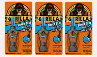 3 ~ Gorilla Super Glue MICRO PRECISE All-Purpose 5g Impact Tough 10 Sec Set Time