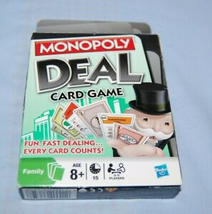 Hasbro Monopoly Deal Card Game 8+ 2-5 Players Complete Free Post