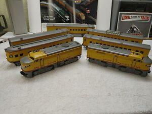 K Line # 643/644 U P Alcos & 5 Car Passenger Set