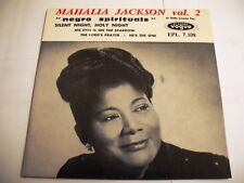 Mahalia Jackson – Negro Spirituals Vol. 2 EP 7'' Edit France