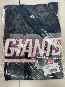 New York Giants Majestic NFL Black Reflective Long Sleeve Logo Tee