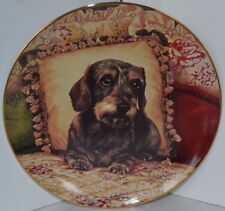 Vintage Dachshunds Wiener Dog Christopher Nick Collector Plate Sweet Dreams