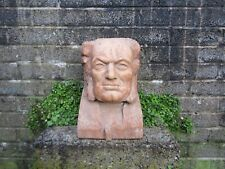 Stunning antique hand carved bust head - solid wood large design piece