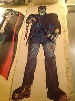 6 foot FRANKENSTEIN in LIVING COLOR 60's comic book novelty