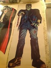 6 foot FRANKENSTEIN in LIVING COLOR 60's comic book novelty