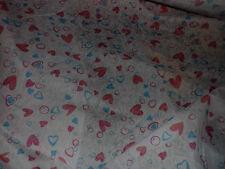 voile de coton coeurs rose & bleu 100x140 cm