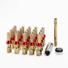 20 Gold Wheel Spline Lug Bolts Nut M14x1.25 Extended Tuner + Key Shank Cone Seat