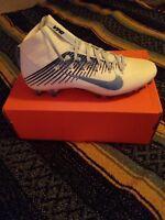 Nike Vapor Untouchable 2 PF White Blue Football Cleats Sizes -11 835646-131