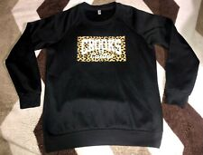Mens Crooks And Castles Crewneck Sweater Leopord Print Sz Medium