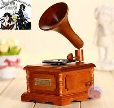 Wood Phonograph Wind Up Music Box : Pandora Hearts - Everytime You Kissed Me