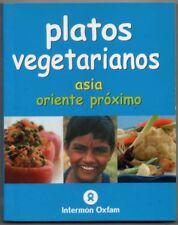 PLATOS VEGETARIANOS - ASIA - ORIENTE PROXIMO - ILUSTRADO - PEQUEÑO FORMATO