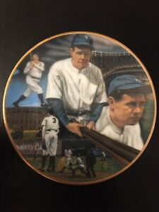 """1988 Sports Impressions Sultan of Swat Babe Ruth 8 1/2"""" Plate NY Yankees 451/714"""