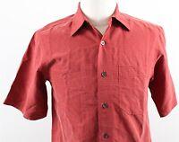 NEW Royal Robbins Desert Pucker Short Sleeve Shirt MENS SMALL Dark Ember Rayon