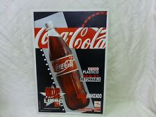 Barcelona 1992 Olympics Coca Cola Coke Advertisement Sign Plastic Spanish RARE