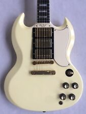 2004 Gibson Les Paul Reedición'61 Sg Custom POLARIS Blanco Custom Shop histórico