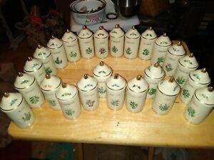 LENOX Porcelain Spice Garden Spice Jars Set of 24 Vintage 1992