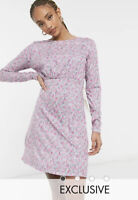 Wednesday's Girl Dress Size 8,12,18 & 22 Long Sleeve Pink Vintage Floral GM81