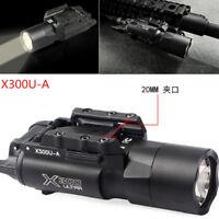Tactical X300U 500LM Bright LED Flashlight Light For Rifle Pistol gun Hunting