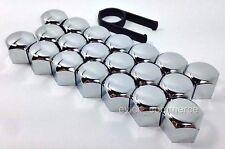 Set 20 x 17mm Wheel Chrome/Plastic Nut Bolt Covers Caps For BMW Wheels