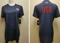 NEW TEAM USA Soccer NIKE Dri-Fit  JERSEY Women's Large navy blue shirt 608723