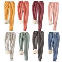 Women Winter Thermal Thick Warm Fleece Lined Pants Long Trousers Sweatpants US