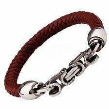 Leather Bracelet 8MM Width Steampunk Surfer Tribal Friendship Celebrity LB58