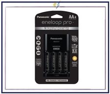 Panasonic Eneloop Pro Individual Cell Battery Charger w/4 AA Ni-MH Batteries NEW