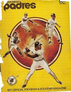 1977 8/29 baseball program St. Louis Cardinals San Diego Padres scored POOR