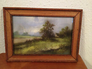 Antique Late 19th Early 20th Century Chalk / Pastel Landscape Drawing