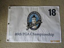 2007 PGA CHAMPIONSHIP GOLF FLAG SOUTHERN HILLS EMBROIDERED TIGER WOODS WON 2021