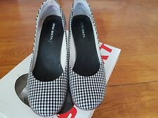 Miss Sixty Monochrome Gingham Heels Shoes EU39