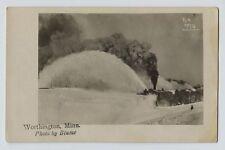 1910 era Rotary Snow Plow Worthington Minnesota Railroad RPPC