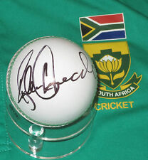 Allan Donald (South Africa) signed white cricket ball +COA/photo proof