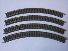Fleischmann N Gauge Curve Track #9125 - Set of 4 ~ TS