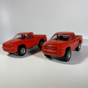 Maisto Dodge Dakota Pickup Truck 1:64 Diecast Red 2 - Variations
