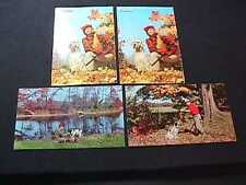 4 HUNTERS WITH HUNTING DOGS POSTCARD VIEWS