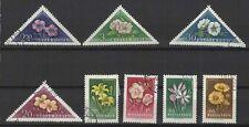 fleurs Hongrie 1958 une série de 6 timbres / T1638