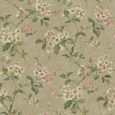 Vintage Look Flowering Dogwood Branches Wallpaper  RL9562    FREE SHIPPING