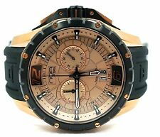 NOA Skandar Ronda Quartz Stainless Steel Rose Gold Chronograph Watch SKCH-002