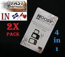 2X 4in1 Nano microSIM Card Standard Convert Adapter micro sim needle iphone ipad