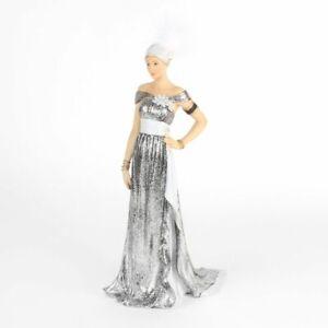 1920 Alice Art Deco Charleston Lady Figurine Glitter Dress Gift Ornament Statue