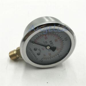 0-230PSI 1.6MPa Pressure Gauge Compressor Manometer Air Oil Pressure Meter YN60