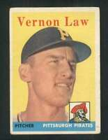 1958 Topps #132 Vern Law VGEX Pirates 72068