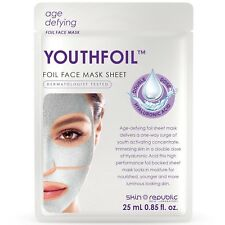 Skin Republic 25ml YOUTHFOIL Foil Face Mask Sheet - Hyaluronic Acid Moisturising