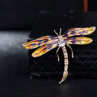 Dragonfly Insect Vintage Rhinestone Jewelry Brooch Pin Gift Bridal Accessories
