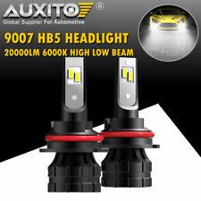 2X AUXITO 9007 HB5 LED Headlight Bulb High Low Beam 20000LM 6000K Conversion Kit