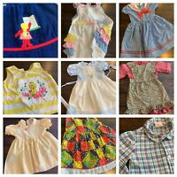 Vtg Lot Girls Clothes 3 4 Dresses Tops Polly Flinders 60s 70s 80s A6
